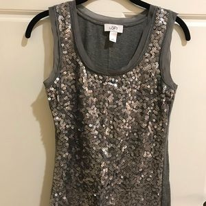 🌼2 FOR 10🌼Silver Sequin Tank Top